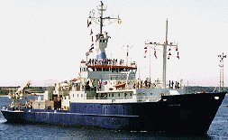 Research vessel Knorr.  (Courtesey of WHOI)
